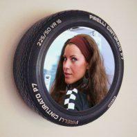 Wandspiegel Pirelli Sportreifen