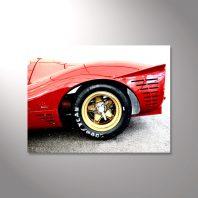 Wandbild Roter Rennwagen Klassiker